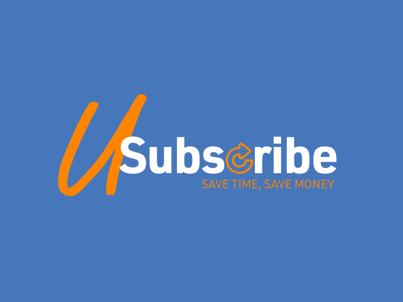 U-Subscribe Logo | Save Time, Save Money